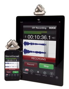 RØDE iXY Stereo Microphone for iPhone, iPad & iPod touch