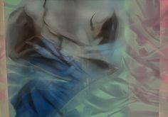 Marvin Aillaud - Silhouettes fragmentées #13 - 2015 - Huile sur toile - 65 x 92 cm #lamicrogalerie #marvinaillaud #peinture #huilesurtoile #artcontemporain