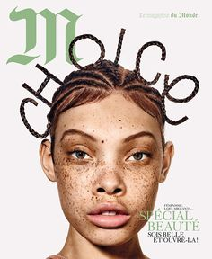 Aleece Wilson by Richard Burbridge Styling by Charlotte Collet Hair by Diego Dasilva Mua by Dior Makeup For Richard Burbridge, Christian Dior Makeup, Typo Poster, Cool Magazine, Magazine Covers, Stream Of Consciousness, Jean Baptiste, Interesting Faces, Covergirl
