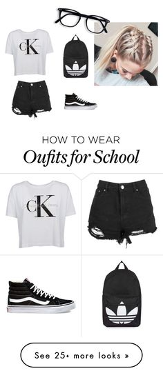 """school"" by sillydilly-1 on Polyvore featuring Calvin Klein, Boohoo, Vans and Topshop"