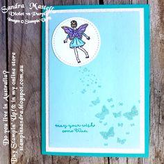 Fairy Celebration :  Stampin Up : Sandra Mastello : Violet vs Purple