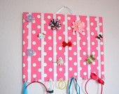 LARGE Hair Bow Holder Accessory Frame Organizer With Hooks for Headbands