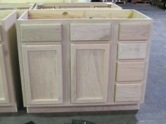 Vanity Sink Base 42unfinished oak-KITCHEN   CABINETS   VANITIES   UNFINISHED VANITIES   Surplus Building Materials