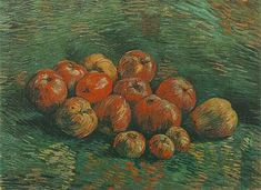 Still Life with Apples - Vincent van Gogh . Created in Paris in Autumn - Winter, 1887 - Located at Van Gogh Museum. Find a print of this Oil on Canvas Painting Apple Painting, Oil Painting Tips, Fruit Painting, Vincent Van Gogh, Still Life With Apples, Still Life Fruit, Magritte, Van Gogh Still Life, Van Gogh Arte