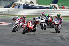 Misano Adriatico, ITA - Max Biaggi of Italy and the Aprilia Racing Team leads the field during the Race 2 of the round 7' of the 2012 Superbike FIM World Championship at Misano World Circuit on June 10, 2012. #superbike
