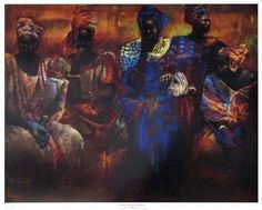 Floral Arrangement Of Senegal by Paul Goodnight | The Black Art Depot