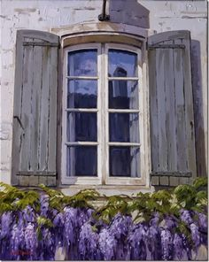 Por Amor al Arte: Los Paisajes mediterraneos de Kiku Poch. Windows, Doors, Outdoor Decor, Ali, Pouch, Home Decor, Blue Bow, Watercolor Art, Sculpture