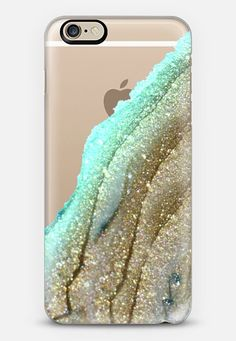 FLAWLESS AQUA FAUX GOLD by Monika Strigel iPhone 6 plus iPhone 6 case by Monika Strigel | Casetify