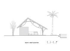 Galeria de Bar no Resort Naman / Vo Trong Nghia Architects - 19 Tropical Architecture, Architecture Design, Bamboo Structure, Cafe Restaurant, Restaurant Ideas, Bamboo Design, Beach Bars, Facade, Floor Plans