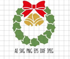 Xmas Wreaths, Christmas Svg, Vintage Decor, Clip Art, Embroidery, Needlework, Needlepoint, Curio Decor, Embroidery Stitches