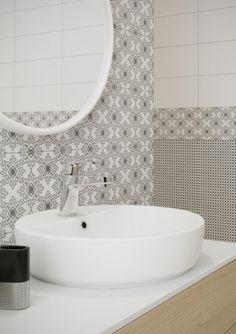 OPOCZNO BLACK & WHITE csempe család akció Black White Pattern, White Patterns, Black And White, Bath Mat, Sink, Interior Design, Mirror, Bathroom, House