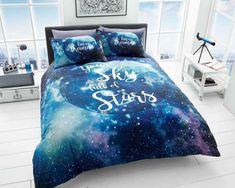 Galaxy Blue Duvet Quilt Bedding Set – Linen and Bedding Blue Bedding Sets, Blue Duvet, Luxury Bedding Sets, Duvet Sets, Duvet Cover Sets, Bed Sets, Luxury Linens, Green Bedding, Black Bedding