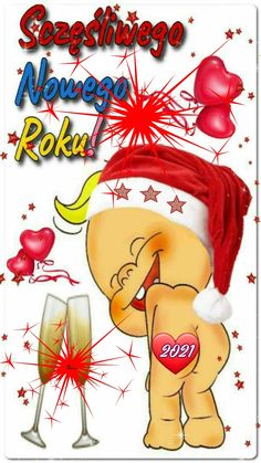 New Year Wishes, Happy New Year, Merry Christmas, Disney Characters, Aga, Xmas, Drawings, Merry Christmas Pictures, New Year's Resolutions