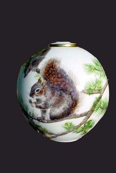 Ecureuils (Porcelaine : Animaux)