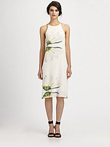 aad8f63f708 Shop for Emme Floral Silk Dress by Tibi at ShopStyle.