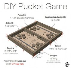Shed Woodworking Plans diy-pucket-game-plans-rogue-engineer.Shed Woodworking Plans diy-pucket-game-plans-rogue-engineer Kids Woodworking Projects, Woodworking Garage, Woodworking Patterns, Woodworking Workshop, Popular Woodworking, Diy Wood Projects, Fine Woodworking, Wood Crafts, Woodworking Furniture