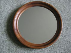 Vintage Tell City Chair Company Hard Rock Maple Round Mirror   eBay $124.95