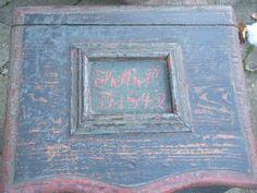 www.Antikvitet.net - Dansk almue syskrin dateret 1842