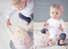 First Birthday photo session and cake smash.