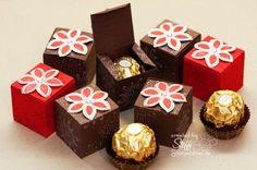 Y así es como debes regalar chocolates Ferrero Rocher esta Navidad Wedding Gift Boxes, Craft Wedding, Chocolates Ferrero Rocher, Diy And Crafts, Paper Crafts, Envelope Punch Board, Treat Holder, Stamping Up, Craft Fairs