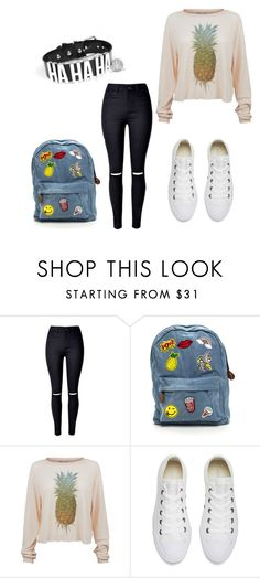 """""""🍍"""" by elizabeth-hoover ❤ liked on Polyvore featuring Wildfox and Converse"""