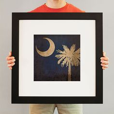 South Carolina Flag   Flags have been used for identity and heritage for centuries, and City Prints carries on the tradition with our flag series. Flags not only represent the country, state, or city – they represent every individual who calls it home. Rep your region with a fine art print from City Prints – truly the perfect personalized gift.