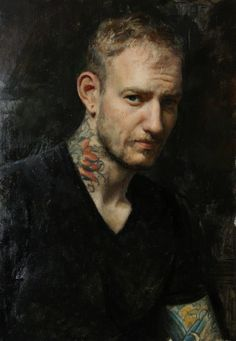 by Cesar Santos, ''Brian's Portrait'' Figure Painting, Painting & Drawing, Cesar Santos, L'art Du Portrait, Portrait Paintings, Oil Paintings, Chiaroscuro, Elements Of Art, Drawing People