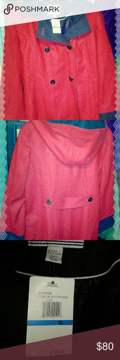Nautica Coat NWT Gorgeous Red Women's Coat by Nautica in Valentino Red .This Beautiful Coat with detachable hood will keep you Warm and Comfey  all season long!! Beautiful Condition it has Never been worn Nautica Jackets & Coats
