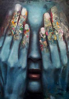 """Saatchi Art Artist Mihail Korubin - Miho; Painting, """"it is over"""" #art"""
