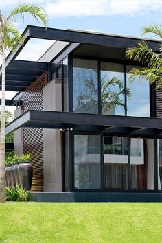 Stunning Modern House Design 10 Stunning Modern House Design Mogumoguni: Stunning Modern House Design Related Amazing Apartment Design Collections You Have To KnowI think. Modern Exterior House Designs, Modern House Facades, Dream House Exterior, Modern Architecture House, Modern House Plans, Exterior Design, Architecture Design, Residential Architecture, Minimalist Architecture
