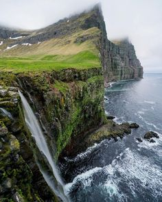 Photo @ChrisBurkard  Imagine walking to the edge of these sea cliffs (some of the tallest in the world) and lowering yourself down on a handmade rope that's been dug into the soft dirt as a ground anchor. Your job was to collect bird eggs for food & trade with neighboring farms. With falling rocks, vomiting birds & failing anchors... death was common. Until the 1940's this was a normal way of life for inhabitants of Hornvik bay, until it was deserted and nature once again took over…