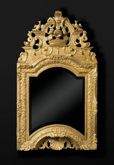 A LOUIS XIV GILTWOOD MIRROR 18th France