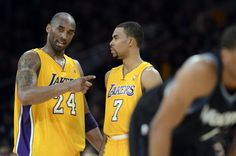 Kobe with Lakers new guard Ramon Sessions… welcome to Cali