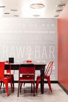 Love this sign for a raw bar. So cute!