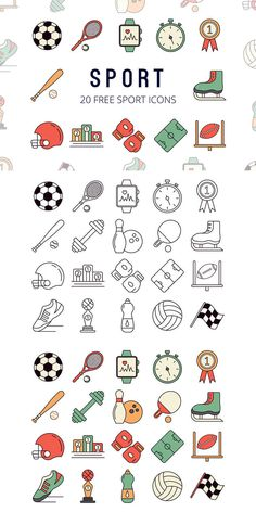 Free Sport Vector Icon Set - Digital Resources Group Board - Graphics, Fonts, Clipart and Icon Set, Icon Icon, Icon Design, Tree Icon, Sports Graphics, Sport Icon, Trendy Tree, Vector Icons, Designs To Draw