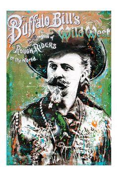 Buffalo Bill - 12 x 18 High Quality Art Print. Tophatter.com!