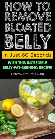 Remove bloated belly just 60 seconds incredible belly fat burning recipe | healthynaturalliv...