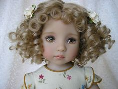 "beautiful Bella, a 13"" Dianna Effner Little Darling doll, painted by Lana Dobbs"
