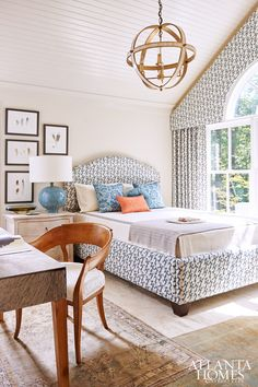 Atlanta Homes & Lifestyles May 2015 issue Dream Bedroom, Home Decor Bedroom, Bedroom Ceiling, Sweet Home, Up House, Beautiful Bedrooms, Beautiful Curtains, Guest Bedrooms, Cool Rooms
