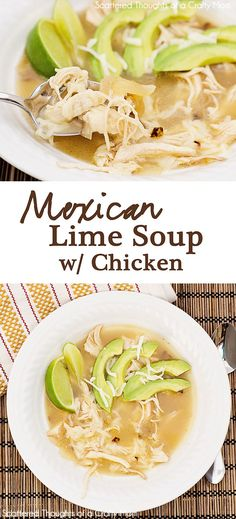 Easy Mexican Lime Soup with Chicken recipe - sopa Comida Latina, I Love Food, Good Food, Yummy Food, Tasty, Mexican Food Recipes, Dinner Recipes, Summer Soup Recipes, Cooking Recipes