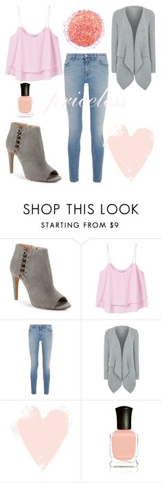 """Just Peachy"" by sadsmith ❤ liked on Polyvore featuring French Connection, MANGO, Givenchy, George and Deborah Lippmann"