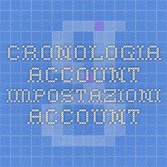 Cronologia account - Impostazioni account