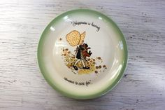 holly hobbie plate // collectors edition plate // by umbrellafant, $8.00