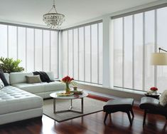 Motorized window treatments are great additions to any home automation system. Today, it is possible to synchronize your draperies or blinds to move in unison with your thermostat, lights, home theater system, and etc. #homeautomationtheater