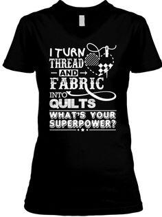 Turn Thread + Fabric Into Quilts (Dark) | Teespring