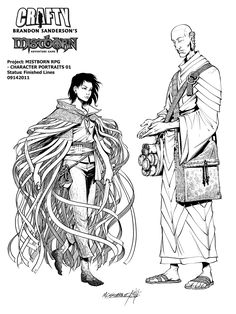 Mistborn: Vin and Sazed by *Inkthinker on deviantART