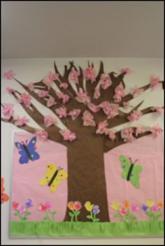 How freakin cool is this??? I LOVE it!! Spring bulletin board ideas...  www.schoolgirlstyle.com