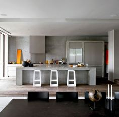 Contemporary Beach House Design by Rob Mills Architects,contemporary interior design Australian Interior Design, Interior Design Awards, Beautiful Interior Design, Interior Design Kitchen, Contemporary Beach House, Kitchen Contemporary, Concrete Kitchen, Concrete Bench, Exposed Concrete