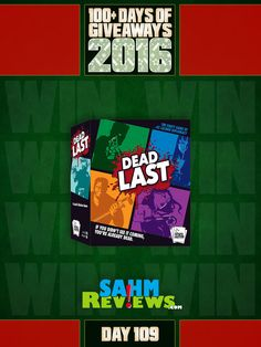 All good things must come to an end. Today is the last of our 2016 Mega Giveaway promotion and it's fittingly enough: Dead Last by Smirk&Dagger. Be sure to return to the site daily until all the giveaways close and watch for new ones all the time! Thanks to all our sponsors who participated!