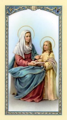 Dear St. Anne.  You are the mother of our Blessed Mother, Mary, and my own guardian saint.  You helped me so many times to be a good mom to CJ and Jenny.  Please pray for baby Marcella now.  She needs your love and intercession.  Amen